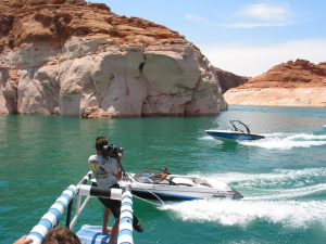 Shooting 16mm for Malibu Boats at Lake Powell